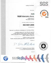 Certifikat ISO 9001_M&M_Slo